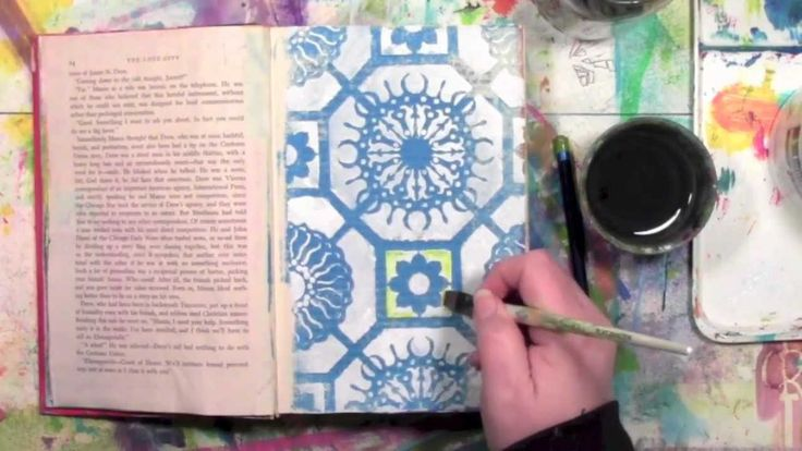 Using Inktense Pencils With A Stencil
