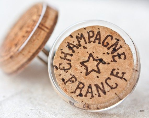 Champagne Cork Cocktail Ring Upcycled Wine French Rustic Country tbteam recycled valentine gift under 15 tbteam