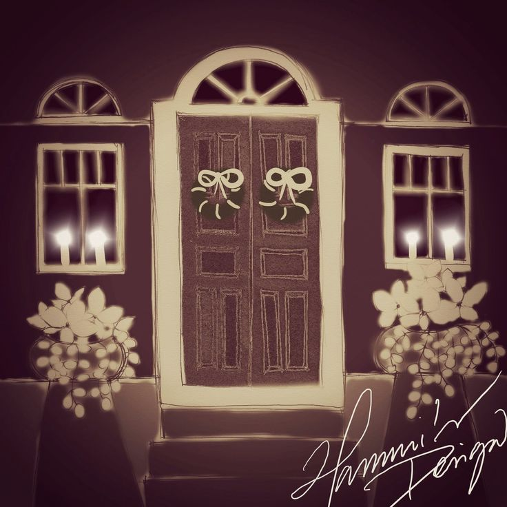 Christmas House. Drawing design by Hammi´s Design.