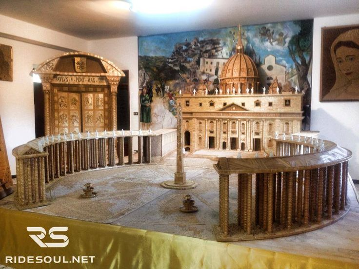 Look at that! The Vatican City made out of wheat seeds! #motorcycle #tour #italy
