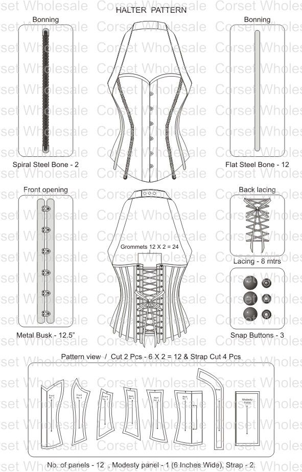 corset pattern - don't think I ll be ever doing this..just in case though