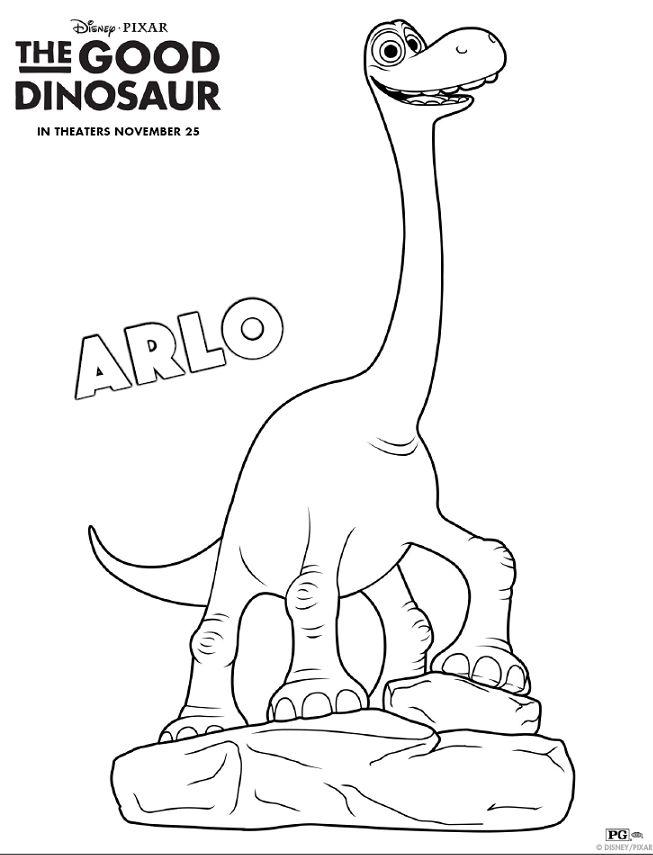The Good Dinosaur Pumpkin Stencil {& New Activity Sheets!} | #GoodDino #Disney