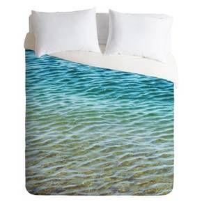 DENY Designs Ombre Sea Lightweight Duvet Cover : Target