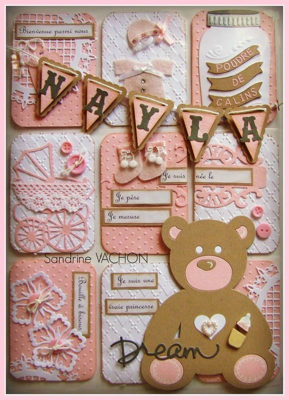 Precious Pocket Letter by Naissance Nayla.  Filled with gift cards to shop for baby girl ~ what a beautiful way to give.