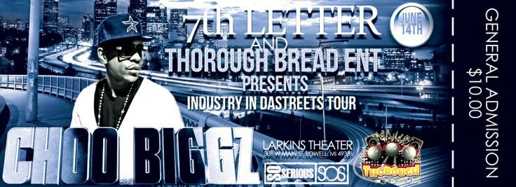 """Album Release Party For 7th Letter Records new album """"Life Of The 7th Letter"""" with special guest: CHOO BIGGZ. """"Promoting his new Track Ft. 50 Cent &Tank Called Tonight""""  The night will be TURNT-UP to the MAX when 7th Letter, SoSerious, & Thorough Bread hit the stage!  Music Brought to you by Dris DJseveneightz Davis AKA DJ Seven Eights, 7th Lettehttps://www.facebook.com/7thlettermusicgroupr Music Group, & Thorough Bread Entertainment Studios  Looking to Perform @ this event ..."""