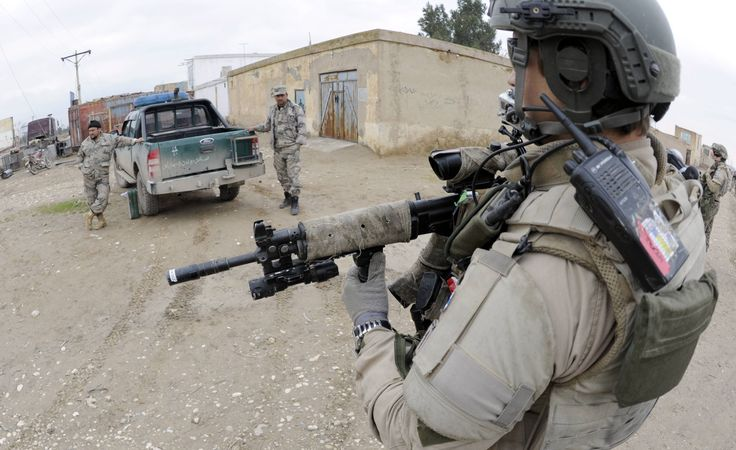 Finnish soldier in Masar-i-Sharif, Afghanistan. RK 95 with Camoform, Acog, and GoPro.