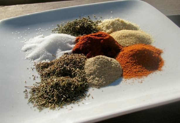 Paul Prudhomme's Blackened Seasoning Blend-Personally I decrease the salt and increase the red pepper