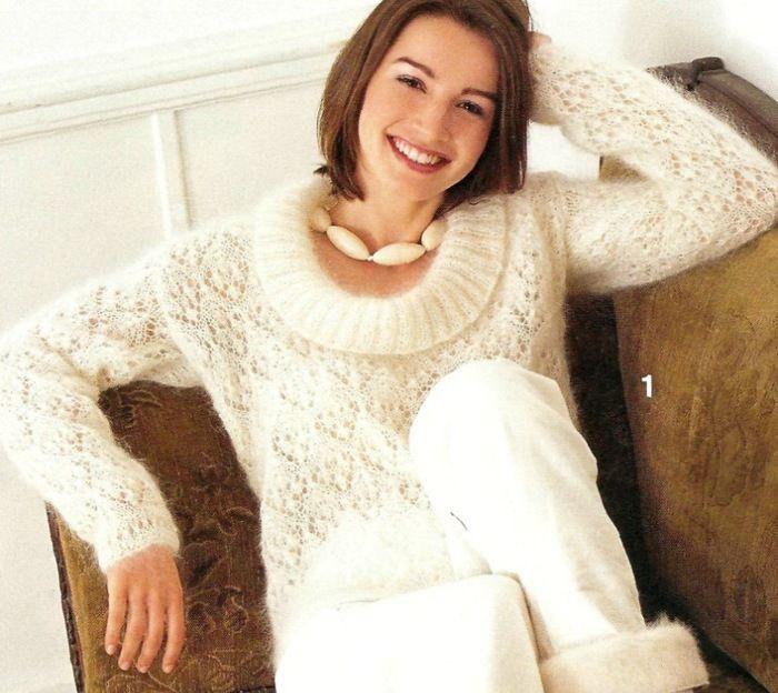 Белый мохеровый пуловер.. Обсуждение на LiveInternet - Российский Сервис Онлайн-Дневников