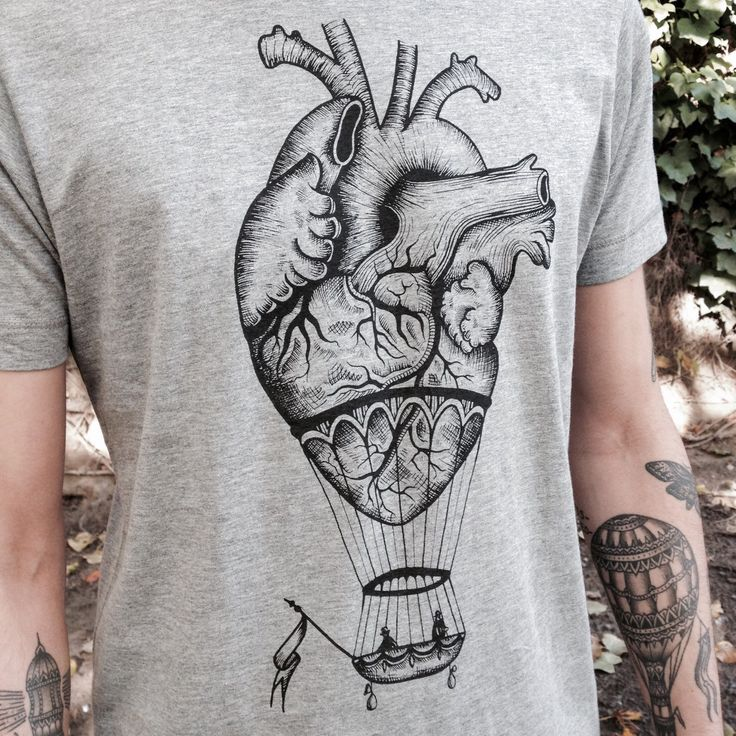 An hot air balloon that is surprisingly anatomical!  This unisex / men's shirt features this unique design screen printed professional onto a heather cotton shirt!