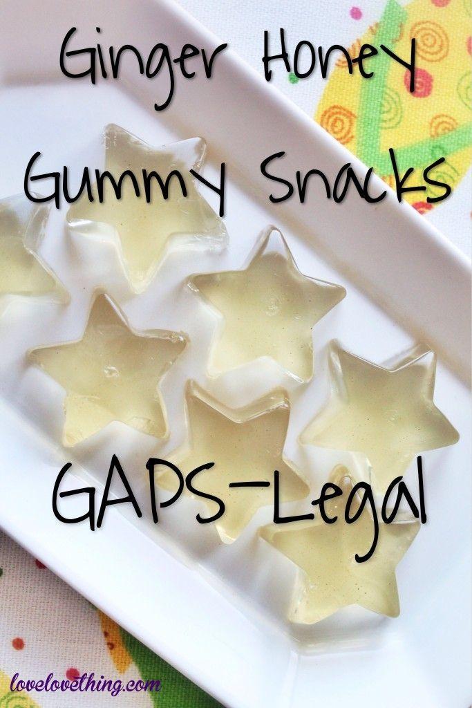 Ginger Honey Gummy Snacks - GAPS Intro legal!