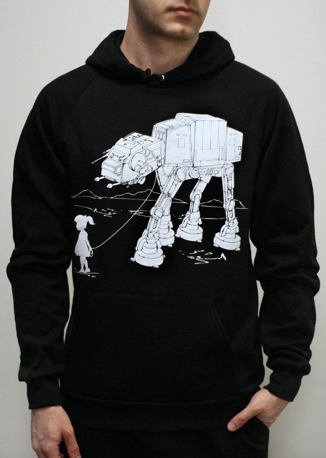 My Star Wars AT-AT Pet - Mens hoodie / Unisex Pullover Hoodie ( Star Wars / ATAT hoodie). $40.00, via Etsy.