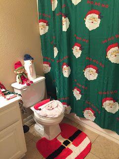 Santa bathroom decorations.