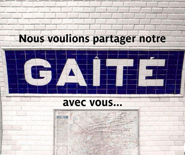 Station Gaité métro Paris