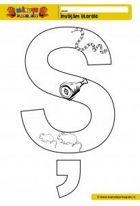 Sh - 010 - Pagini de colorat cu litera S