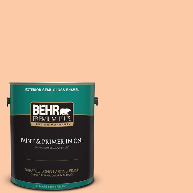 BEHR Premium Plus 1-gal. #270C-3 Coral Confection Semi-Gloss Enamel Exterior Paint