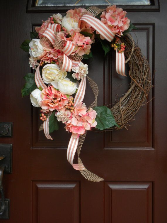 Spring door wreath/ Summer door wreath/ Wedding by WreathAmore