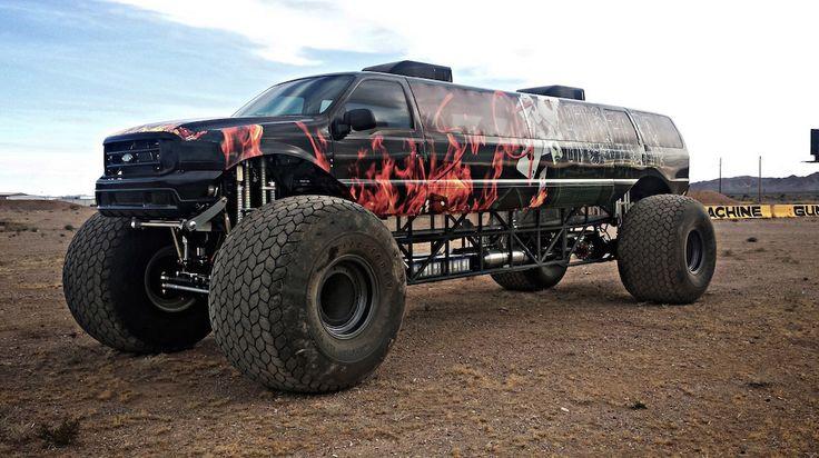 Un Monster-truck limousine de 700 ch à vendre pour 1 million de dollars - http://www.leshommesmodernes.com/monster-truck-limousine/