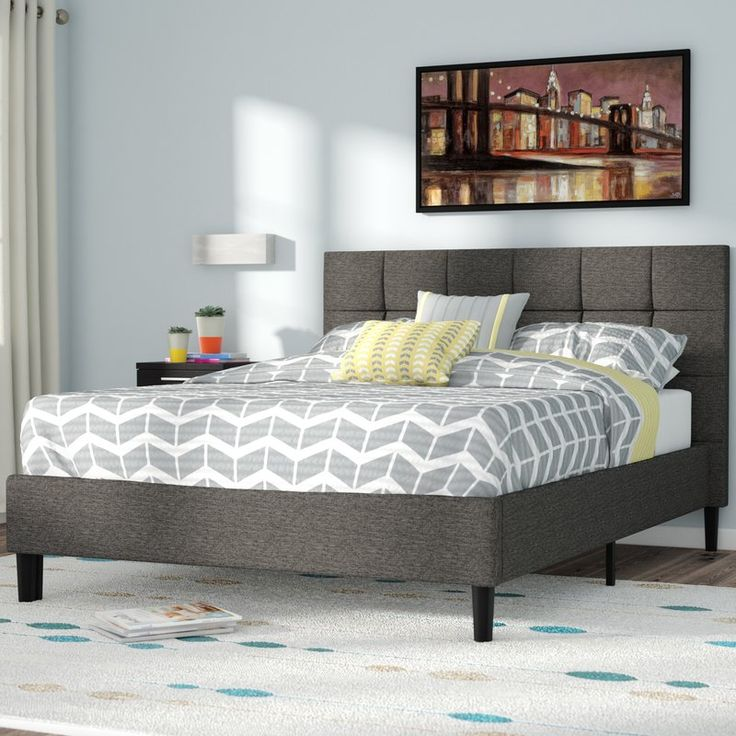 This Stunning Colby Upholstered Platform Bed By Zipcode Design Will Transform Your Bedroom It