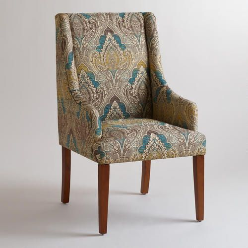 Cost Plus Chairs: Woven Jacquard Hayden Dining Chair
