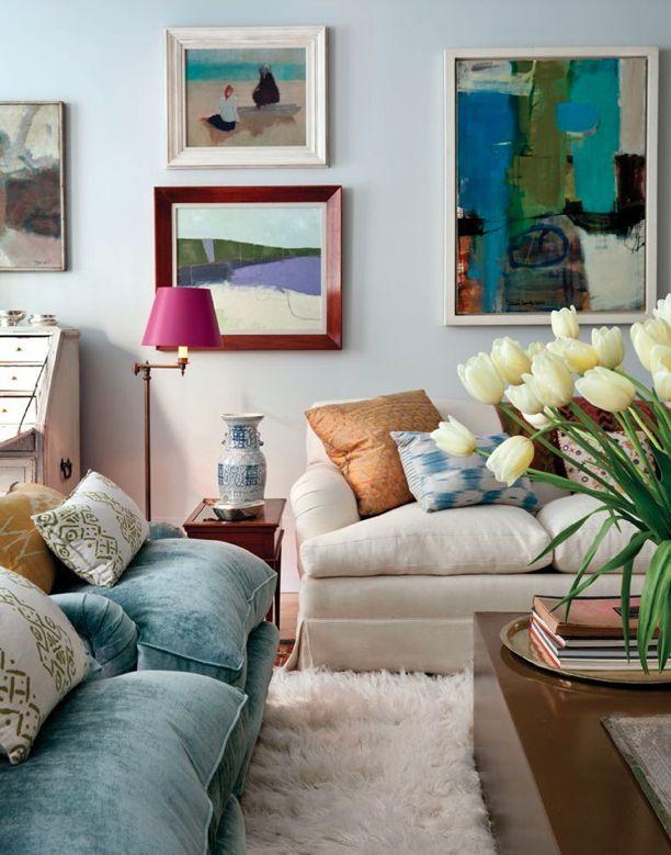 colorful NYC livingroom