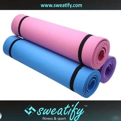 Sweatify Thick Non-slip 3 Colors 0.2 inches EVA Yoga Play Gym Fitness Mat Exercise Pad