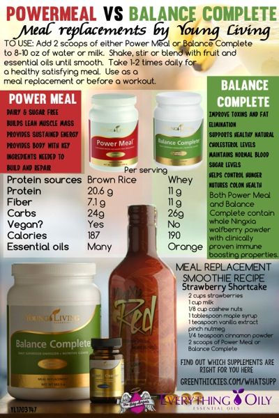 Power meal or Balance Complete? Which meal replacement should you choose? What Supp - Which Young Living Supplements are right for you? Come and find out at our FREE LIVE EVENT at http://www.greenthickies.com/whatsupp Missed the event? No worries, get all the information in this free 12 day e-course: http://www.greenthickies.com/whatsuppecourse/