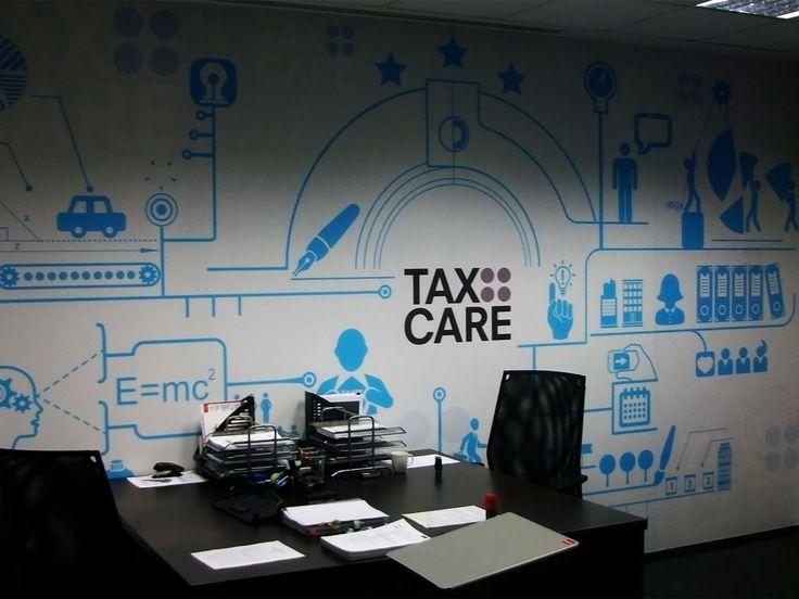 Branding przestrzeni biurowej. #reklama #marketing #branding #biura
