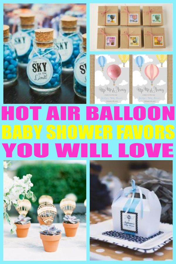 Hot Air Balloon Baby Shower Favors Hot Air Balloon Baby Shower