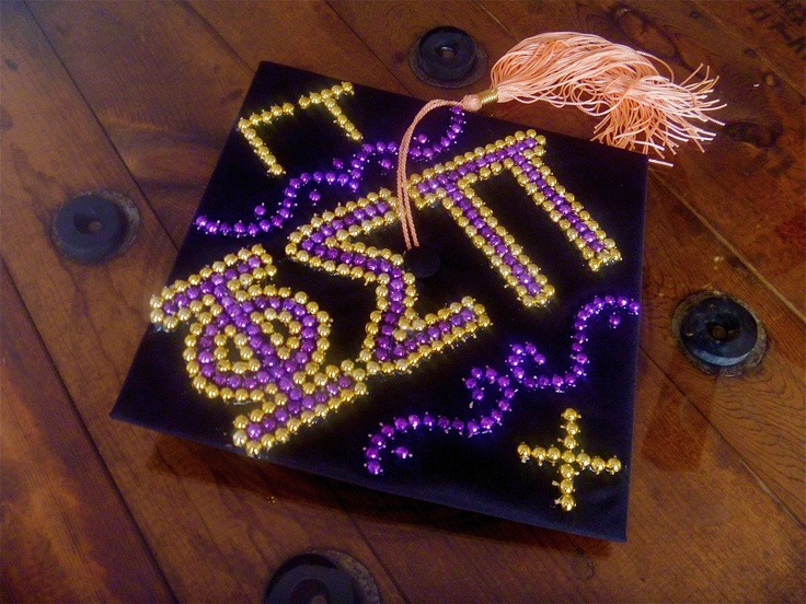My graduation cap! Phi Sigma Pi, Gamma Tau Chapter, Chi Class. Congratulations, class of 2012! #PhiSigmaPi