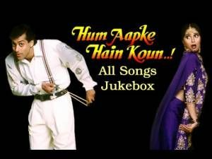 Enjoy all the superhit songs of the classic hindi movie Hum Aapke Hain Koun, starring Salman Khan and Madhuri Dixit!