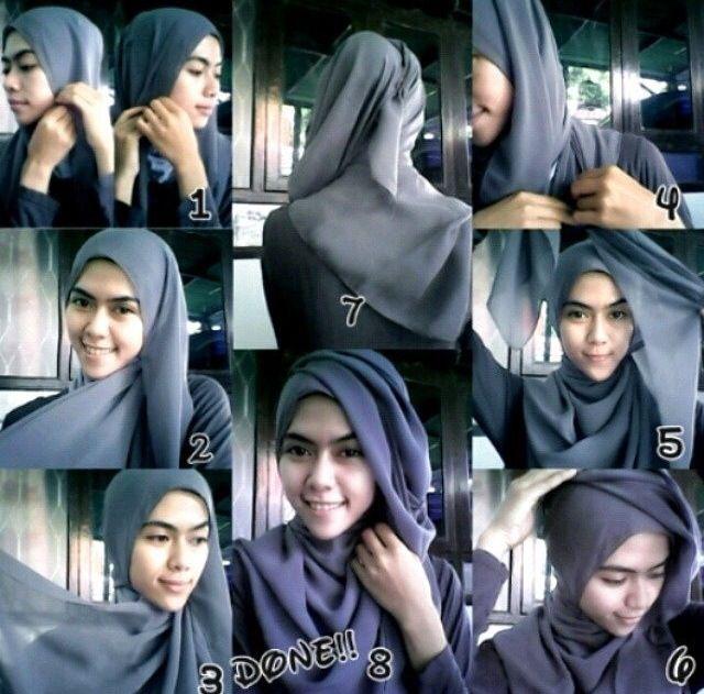 #hijab #bawal #square #tutorial #stepbystep