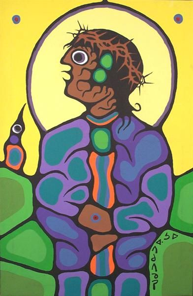 http://www.bearclawgallery.com  By Norval Morrisseau, Canadian native artist