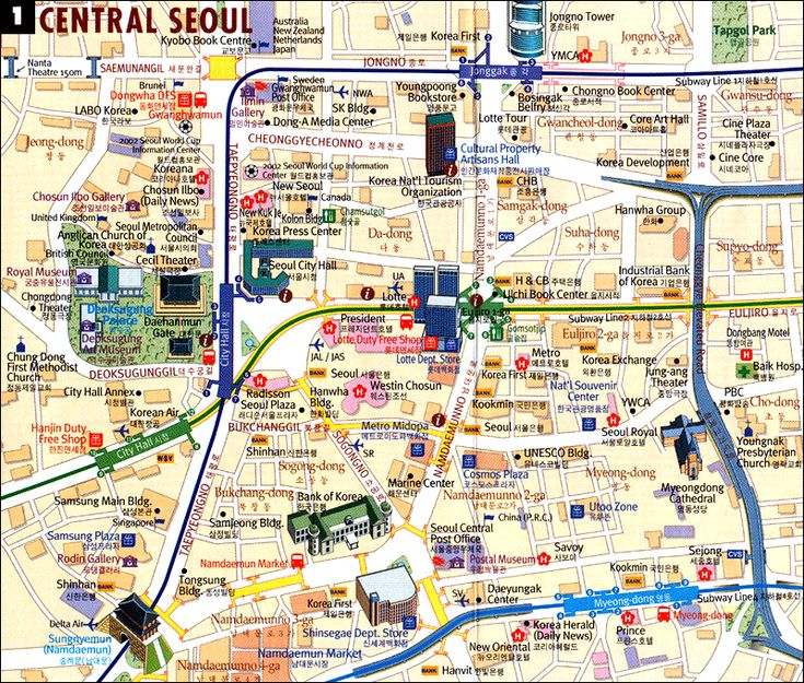 tourist map in south korea -