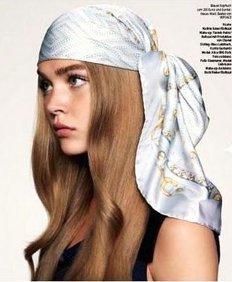 head scarf tying