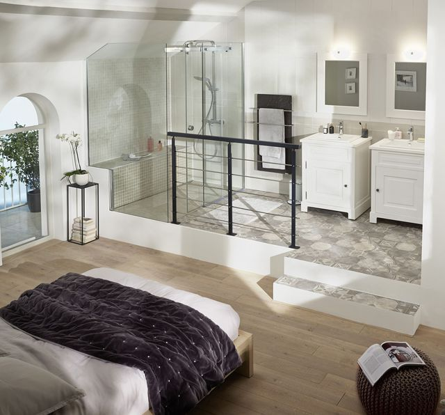 Suite parentale avec salle de bain nos id es am nagement for Amenagement suite parentale dressing salle de bain