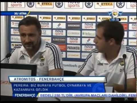 Vitor Pereira ve Bruno Alves'in Atromitor - Fenerbahçe Maç Öncesi Basın Toplantısı   19 Ağustos 2015 - YouTube