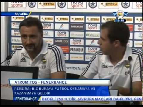 Vitor Pereira ve Bruno Alves'in Atromitor - Fenerbahçe Maç Öncesi Basın Toplantısı | 19 Ağustos 2015 - YouTube