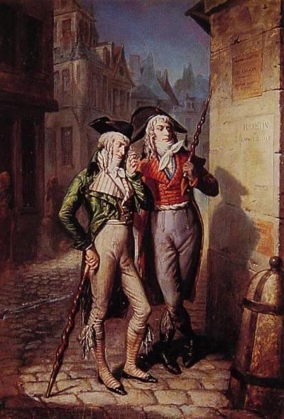 Les Incroyables Louis Alexandre Eustache Loursay 1795