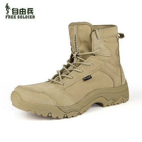 FREE SOLDIER outdoor tactical boots hiking climbing shoes men shoes breathable lightweight mountain boots hiking shoes