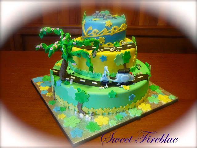 Sweet Fireblue: ✪La torta con la Vespa....✪