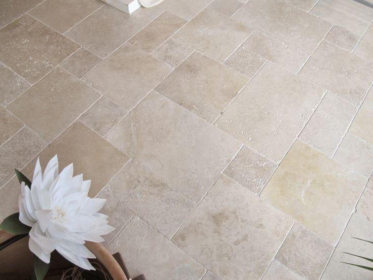 Travertin Crema Naturstein Bodenplatten für den Innenbereich