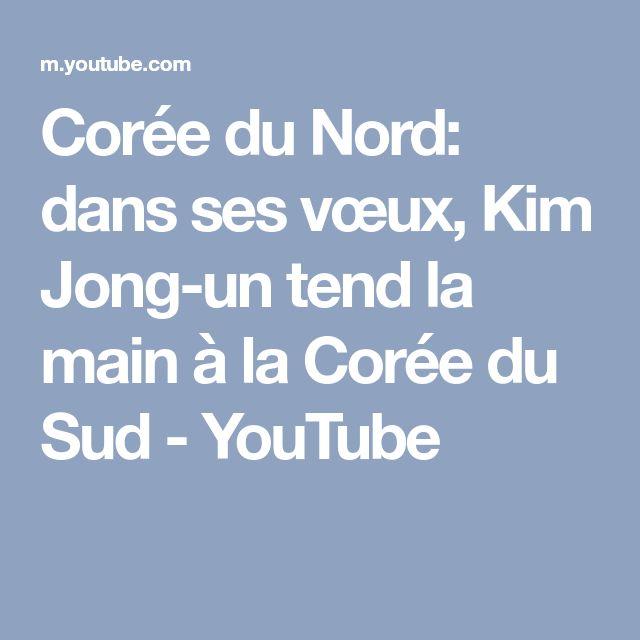 Corée du Nord: dans ses vœux, Kim Jong-un tend la main à la Corée du Sud - YouTube