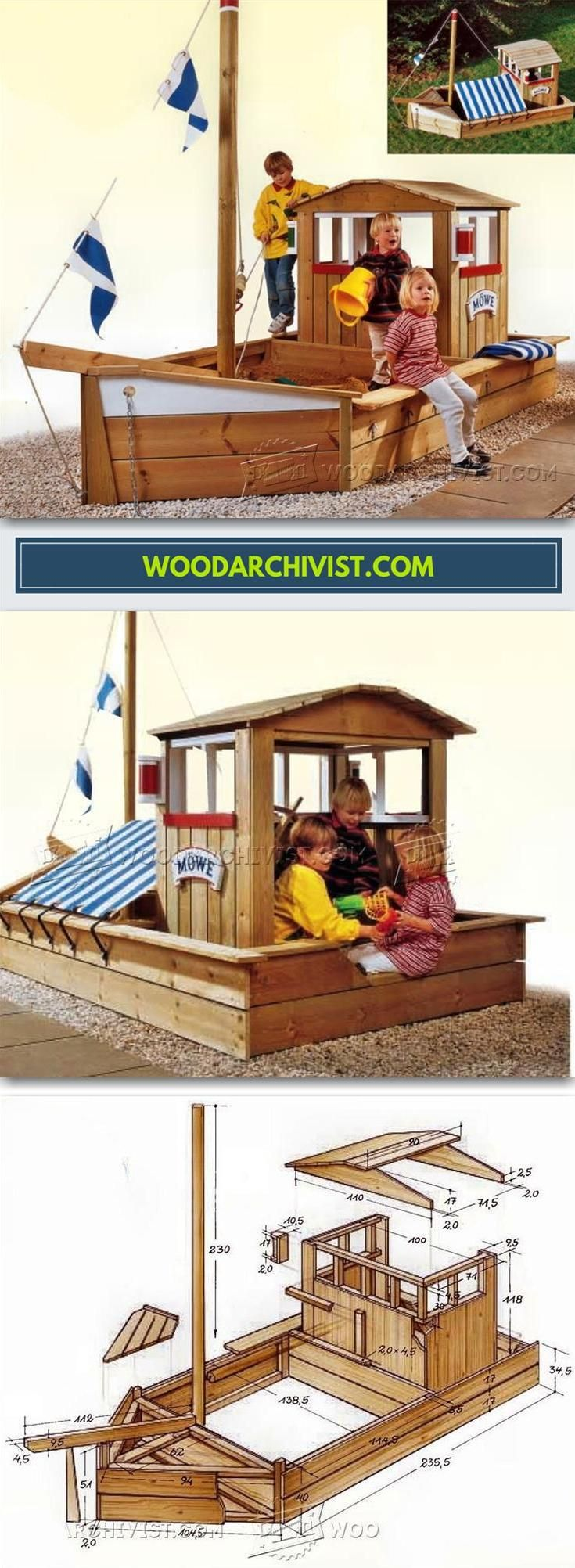 Boat Sandbox Plans - Children's Outdoor Plans and Projects | WoodArchivist.com