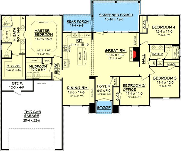 793 Best Images About House Plans On Pinterest 3 Car