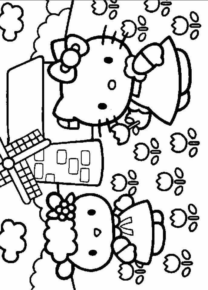 coloring page Hello Kitty Kids-n-Fun