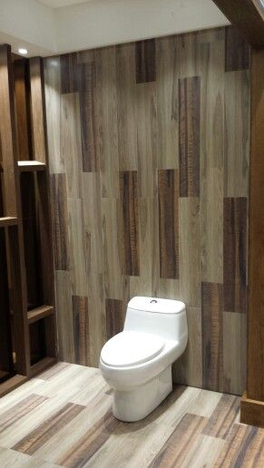 Timber look tiles for bathroom floor and walls