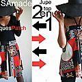 Chez ISAmade : la jupe se transforme en Top Bandeau : Un imprimé Patch graphique et stylisé fleuri pour Une