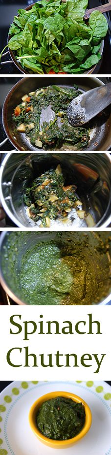 Spinach Chutney - An easy to make, healthy, spicy and tangy chutney perfect to have as a side for dosa. It doubles up wonderfully as a dip or spread as well. One dish and multiple ways to enjoy.