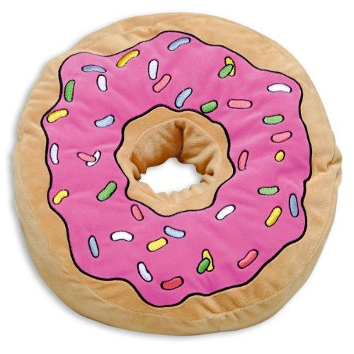 The Simpsons Kissen Donut - aus Velboa-Microvelour, 100% Polyester.