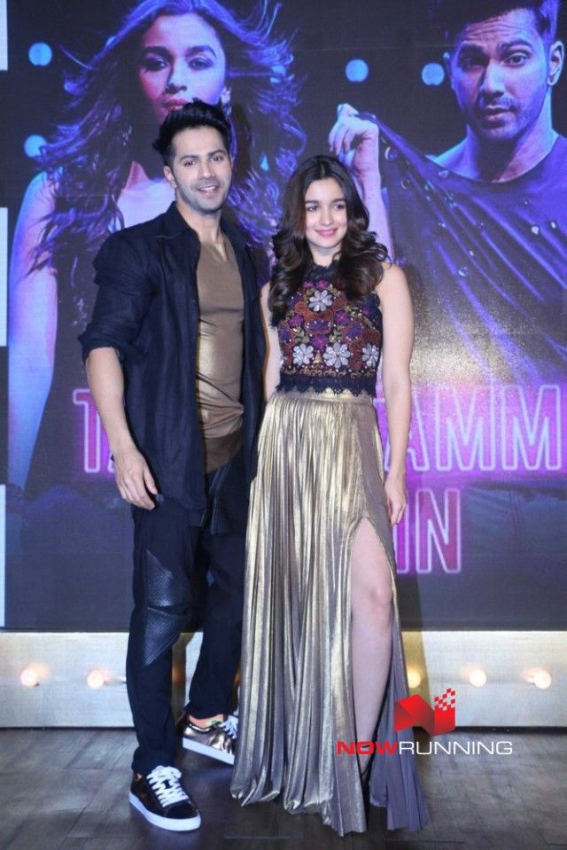 Varun and Alia Bhatt at the launch of Tamma Tamma song from Badrinath kI Dulhania movie